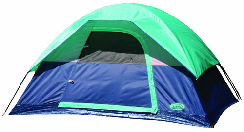 Texsport Riverstone 2 Person Square Dome Tent (Silver/Blue, 7-Feet X 5-Feet X 48-Inch ), Outdoor Stuffs