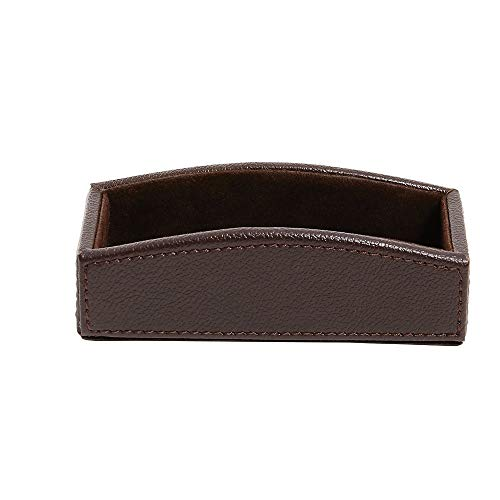 Staples 2721128 Business Card Holder Faux Leather Brown