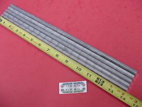 5 Pieces HEX 5/16'' Aluminum 2024 Hex BAR 14'' Long T4 Solid Lathe Stock .312''