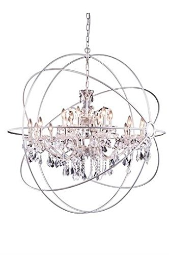 Metro Polished Nickel Modern 18-Light Grand Chandelier Heirloom Handcut Crystal in Crystal (Clear)-800G43PN-RC–43.5″ W/D