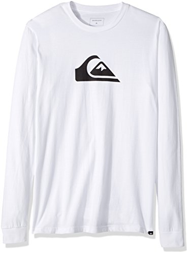 Quiksilver Men's Mountain and Wave Long Sleeve Tee T-Shirt, White, (Quiksilver Mens Mountain Wave)