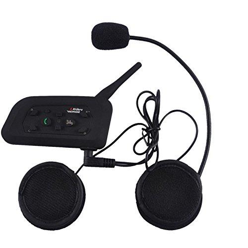 Sets 1200M 6 Riders Interphone Bluetooth Motorcycle Helmet Intercom Headset - 9