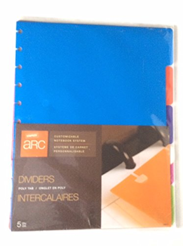 Staples Arc System Tab Dividers, Assorted colors, 9'' x 11