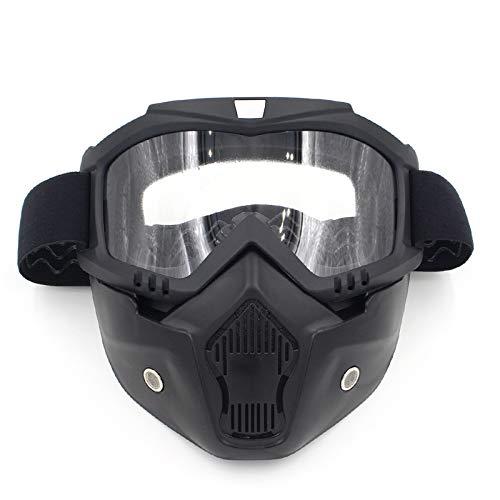 Motocicleta Que Aire la la Gafas máscara máscara de la de máscara de Casco Monta través Shuo de el New a Equipo de la Campo Lente la Libre Clear lan Blue Color al de Harley máscara IqXSxaY6