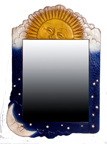 Piazza Pisano Sun and Moon Celestial Wall Mirror