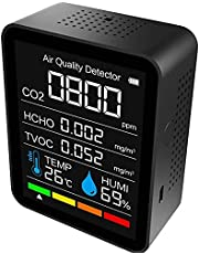 CO2-meter voor binnen, CO2 Luchtdetector, Draagbare CO2-detector
