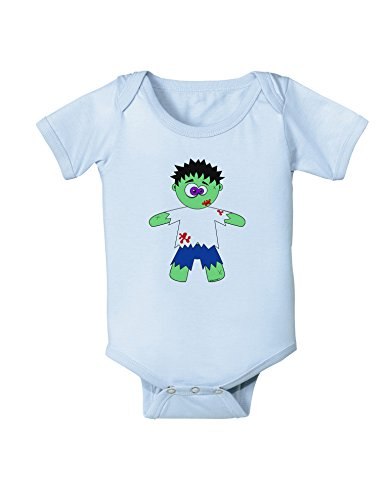 TooLoud Zombie Boy Halloween Baby Romper Bodysuit - Light Blue - 12 Months -