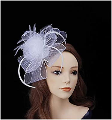 Fascinators Hats Women Tea Party Hats Kentucky Derby Headband Feather Cocktail Headwear