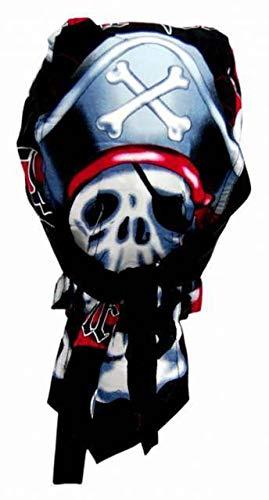 Pirate Skull Fitted Bandana Cap Biker