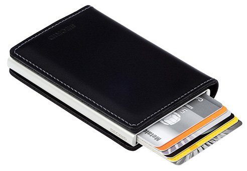 Secrid Slim Wallet Leather Rfid Safe Card Case Black