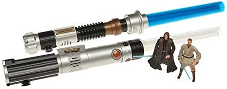 Star Wars Revenge Of The Sith Electronic Anakin And Obi Wan Lightsabers Accessory Figures Amazon Canada