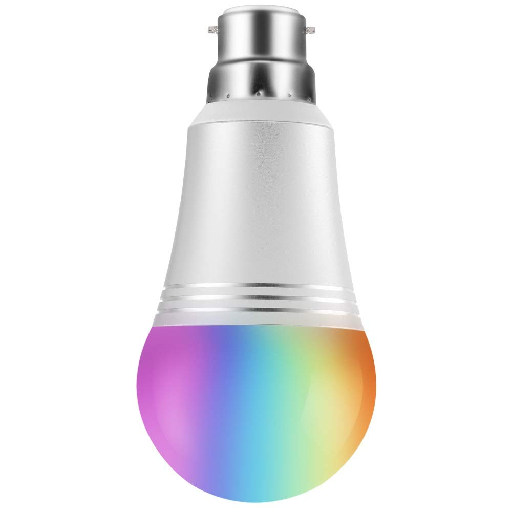 WiFi Smart Bulb, Remote Control by Smart Device and Voice Control by Amazon Alexa & Google Home, Colour Dimmable LED Light B22 Bayonet 60W Equivalent, No Hub/Hue Required (Daylight White 7W 6000K)