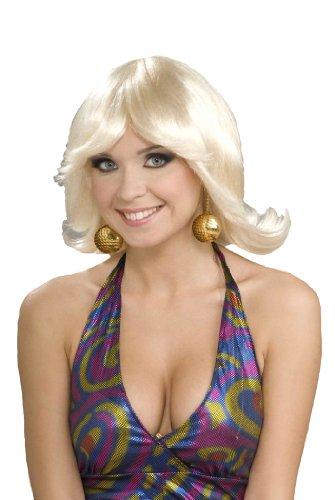 Forum Novelties Women's 70's Disco Fever Flip Style Blonde Wig, Multi, One Size ()