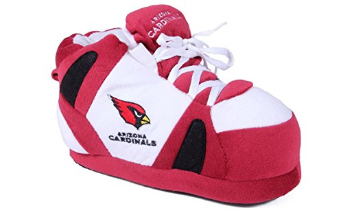 (Comfy Feet ACO01-4 - Arizona Cardinals - XL - Happy Feet NFL Slippers)
