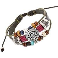 New Leather Adjustable Faith Bracelet Handmade Jewelry Cuff Women Men`s
