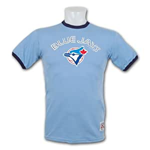 Toronto Blue Jays Cooperstown Team Color Ringer T-Shirt - Size Large