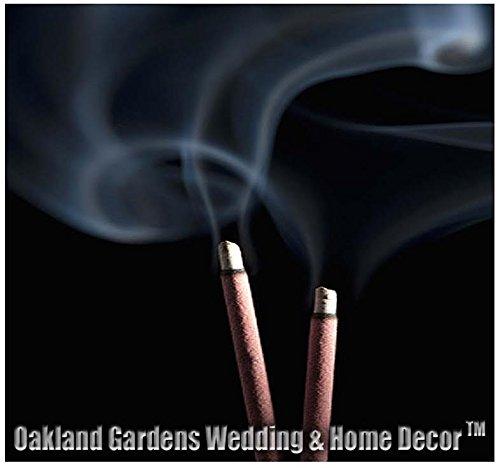 Sandalwood, Frankincense, Egyptian Musk, Mango Butter, Nag Champa, Rain - Premium Choice Natural Incense By Oakland Gardens (100 x Rain Incense)