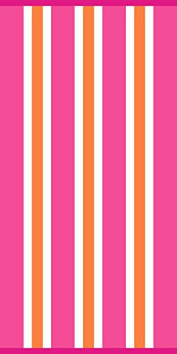 Cabana Basic Pink Stripe Beach Towel by Simply Outdoors - 30' by 60' - 100% Cotton