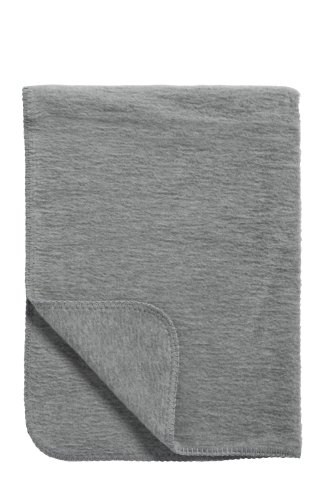 Meyco 1251005 Classic Uni Babydecke, 120 x 150 cm, anthrazit