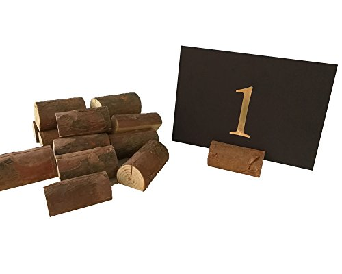 Fonder Mols Natural Wood Table Number Cards Place Holder Dispaly Stand DIY Hessian Table Centerpiece Jute Country Outdoor Wedding Party Decor Pack of (Country Themed Table Centerpieces)