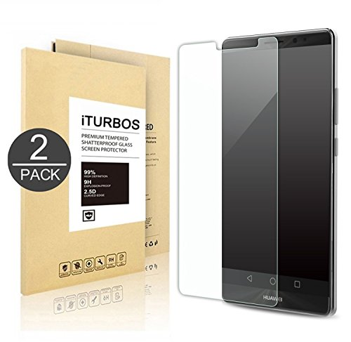 [2-Pack] Huawei Honor 8 Tempered Glass Screen Protector, iTURBOS Anti-Scratch, Anti-Fingerprint, Bubble Free, Lifetime Replacement Warranty
