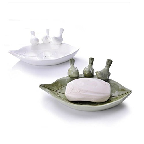 Eovsea Three Little Birds Durable Resin Design Soap Dish for