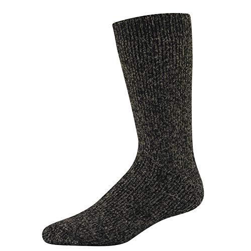 Wigwam Snow - Wigwam Men's The Ice Sock, Dark Brown Twist, Large