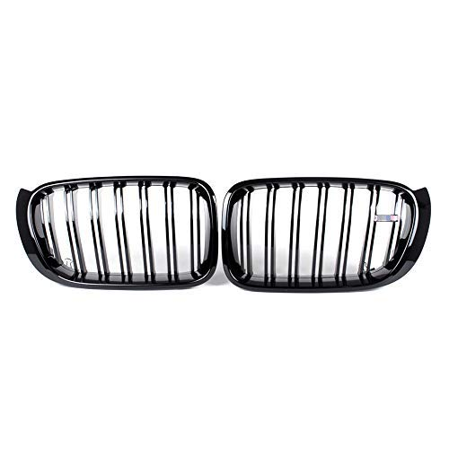 ABS Huichi Front Replacement Kidney Grille Grill Compatible with BMW X3 Series F25 Facelift 2015-2017 X4 Series F26 Glossy Black