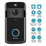 Video Doorbell [2019 Upgrade] Wireless Doorbell Camera IP5 Waterproof HD 1080P WiFi Security