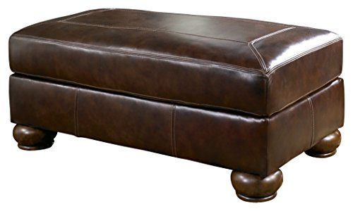 Signature Design by Ashley Axiom Ottoman, Walnut