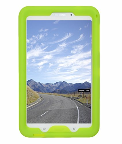 Bobj Rugged Case for Samsung Galaxy Tab 4 8-inch Tablet SM-T330, SM-T331, SM-T335, SM-T337, SM-T337A other SM-T33 (Not for Tab A 8) - BobjGear Sound Amplification - Kid Friendly (Gotcha Green)