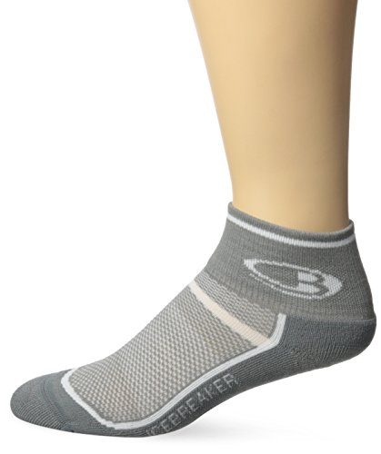 Icebreaker Men's Multisport Light Mini Socks, Fossil/White, Large