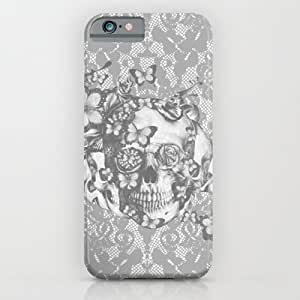 Society6 - Ashes To Ashes Lace Skull iPhone 6 Case by Kristy Patterson Design