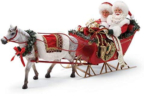 Department 56 Possible Dreams Santa s One Horse Open Sleigh. Figurine, Multicolor