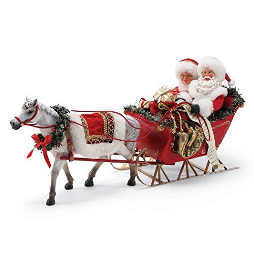 (Department 56 Possible Dreams Santa's One Horse Open Sleigh. Figurine Multicolor)