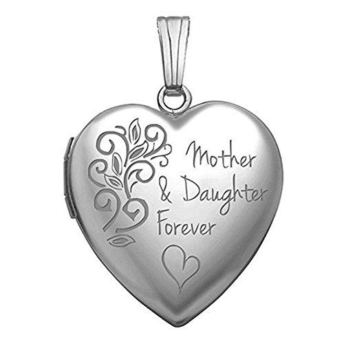 Mother Daughter Locket - Sterling Silver