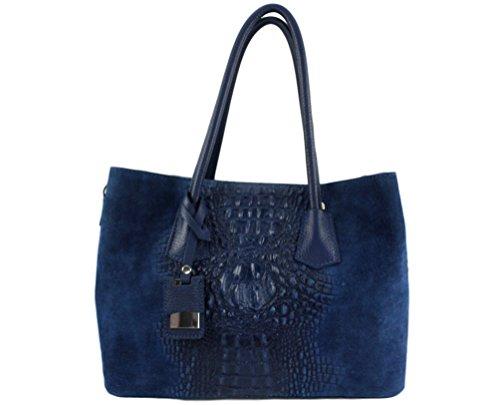 cuir Kathy cuir Bleu Italie main Plusieurs Cuir sac Marine sac femme à sac Coloris Sac cuir Kathy paris italie chloly qAwZ4c