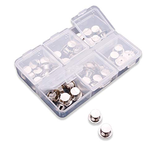 (Pin Locks (42 Count) Pin Keepers - Spring Loaded Pinkeepers with Storage Case - Biker Pin Locks- Disney Pin Locks - Veteran Owned Company)