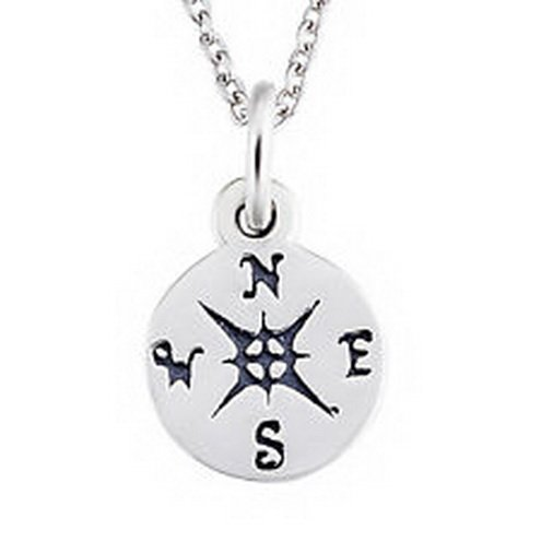 jacob alex #40638 925 Sterling Silver Navigation Nautical Graduation Compass Pendant Necklace 18'' by jacob alex