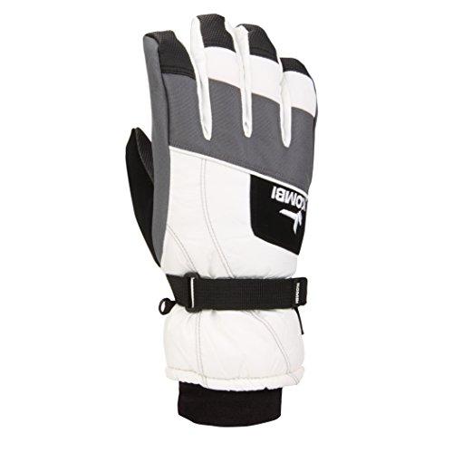 (Kombi Kids & Baby Hustle Jr Cold Weather Gloves, Large, White Gunmetal)