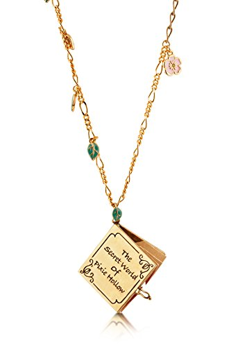 Disney Necklace Couture Flowers - Disney Couture Tinker Bell Pixie Hollow Map Necklace
