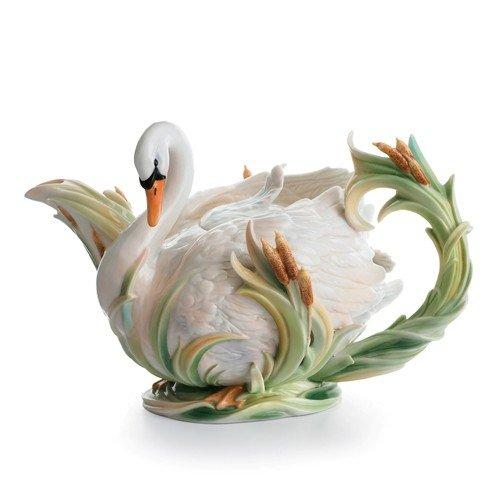 Swan Lake 3-qt. Porcelain Teapot