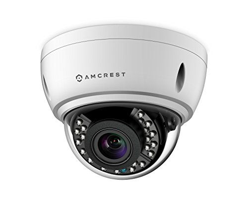 Amcrest 4x Optical Zoom HD 1080P 1920TVL Dome Outdoor Security Camera (Quadbrid 4-in-1 HD-CVI/TVI/AHD/Analog), 2MP 1920×1080, 65ft Night Vision, Motorized Varifocal Lens 40°-90°, White (AF-2MVD-VARIW)