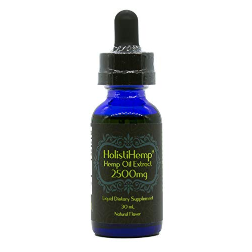 Hemp Oil Extract Full Spectrum 2500mg 30mL - Pain Relief - Anti Anxiety Social Anxiety- Depression Stress Support - Anti-inflammatory - Grown/Made USA - Brain Health- Natural Flavor, Organic, Non GMO