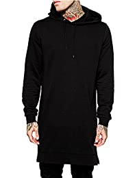 Men's Long Cape Sports Hip Hop Hooded Black Grey Casual Hoodies Overcoat