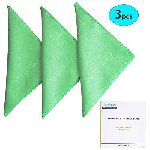 Lampoo Guitar Cleaning Cloth Piano and Guitar Polishing Cloth Microfibre Guitar Polish Clothes Guitar Cleaner (3 pcs)
