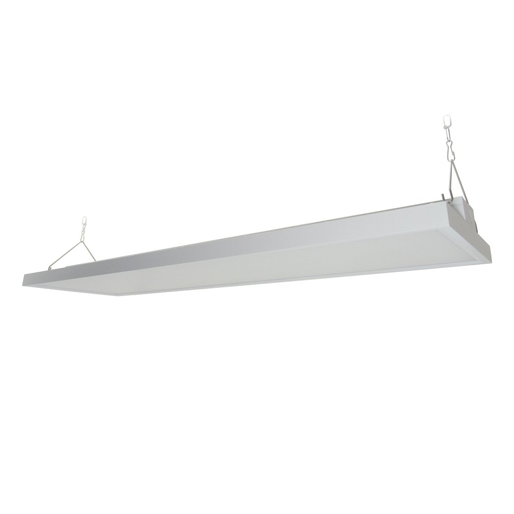 4' LED Linear High Bay Shop Light Fixture 225W 29250 lumens 120-277V 0-10V Dimming DLC Premium Commercial Grade Indoor Warehouse Industrial Fixture [Equal to 600W HID or 8 Lamp Fluorescent Linear]