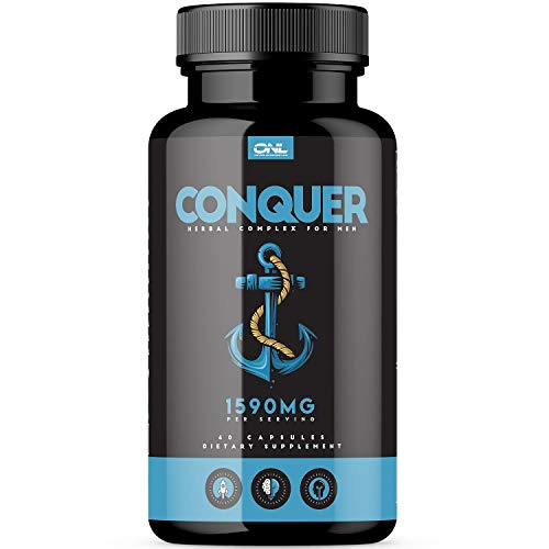 Conquer | #1 Premium Fertility Supplement for Men (60 Capsules) – Support Sperm Count, Motility, Volume – All Natural Energy Booster – Healthy Herbal Complex – 1 Month Supply
