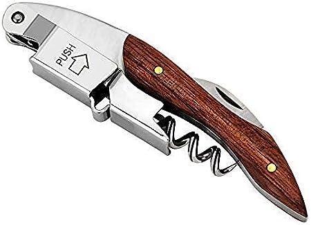 YSYPET Sacacorchos personalizado Vino tinto Clave removedor de corcho - Mango de madera