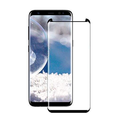 Samsung S8 Tempered Glass Screen Protector Case Friendly, JOREMA 3D curved Edge,Full Coverage Anti-Scratch,HD Clear,9H Hardness,Bubble Free,Anti-Fingerprint Glass Screen Protector For Galaxy S8